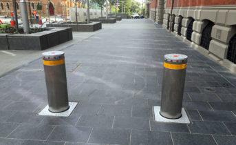 Perth City Pedestrian Side walk - Electric Bollards